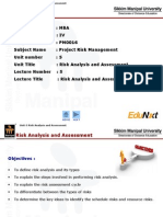 Risk Analysis and Assessment