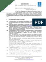 Doutorado Em Letras - Processo Seletivo 2014.1
