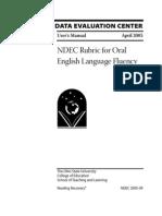 IDEC Rubric for Oral English Lanuage Fluency