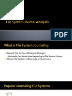 Filesystem Journal Analysis