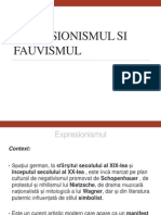 Expresionismul Si Fauvismul
