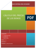 CÁLCULO DEL PRECIO DE LOS BONOS