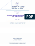 Audit of the Richmond City Department of Social Services CSA and Foster Care