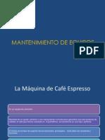 Man. Equipos. MAQUINA DE CAFÉ ESPRESSO