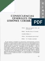 Consecuencias Generales de Las Lesiones Cerebrales