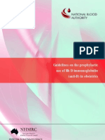 Guidelines on the Prophylactic Use of Anti-D