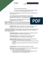 Media Resume Revised 1-23-14 for Online Portfolio ONLY