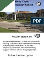 Hope Creek Mock Budget