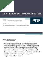 Obat Emergensi Dalam Anestesi