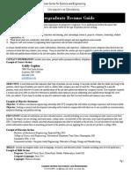 Undergraduate Refefsume Guide