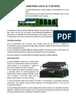 Memorias RAM y Unidad de estado sólido (SSD)