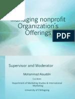 Managing nonprofit Organization's Offerings