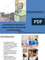 Ergonomics sewing work station Final Jury Ppt