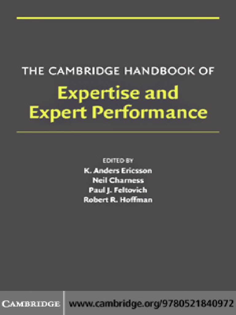 Expertise and expert performancepdf fandeluxe Gallery