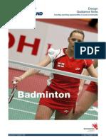 Badminton Design Guide - 2011