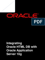 Oracle HTML Db and Oracle as 10g 132558