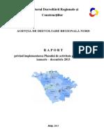 RAPORT anual privind implementarea Planului de activitate / ianuarie-decembrie 2012