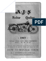 Ajs 1927 AJS Instruction Manual H3 H4 H5