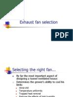 Exhaust Fan Selection