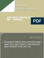 Presentasi Praktikum Teknik Pengelasan Logam
