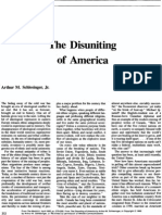 The Disuniting of America - Schlesinger (excerpt)