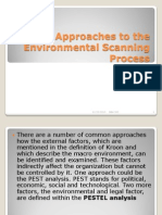 Approaches to the Environmental Scanning Process2