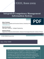 Integrated Competency Management Information System