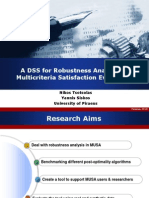 A DSS for Robustness Analysis in Multicriteria Satisfaction Evaluation
