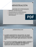 Definicion de la Administracion