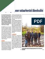 HBVL 24/01/'13 - Europees geld voor natuurherstel Abeekvallei