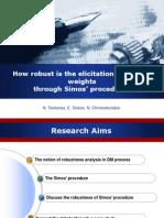 Robustness Measures in Criteria Importance Estimation Based on Hamiltonian Search Algorithms 017