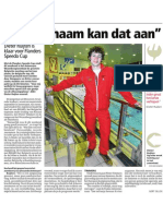 HBVL 24/01/'13 - Dieter Ruijten is klaar voor Flanders Speedo Cup