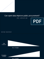 Can open data improve government procurement?