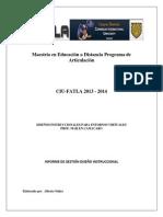 informe 2 aulas virtuales Alberto nuñez