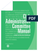 Rotary Club admiration Manual