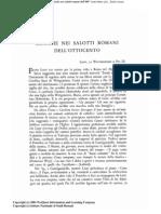 Musica Nei Salotti Romani Dell'Ottocento