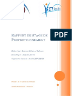 Rapport de Stage de Perfectionnement