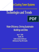 Saving Water in Cooling Tower Systems - Technologies and Trends - Rand Conger