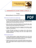 Economic and Social Survey of Asia and the Pacific 2013 - Briefing Notes for the Launch in Ankara