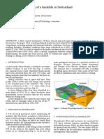 3D Numerical Modeling of a Landslide in Switzerland