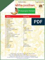 Pratyangira-Homam