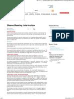 Sleeve or Plain Bearing Lubrication