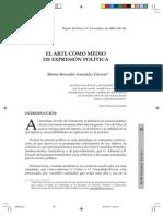EL ARTE COMO MEDIO DE EXPRESIÓN POLÍTICA