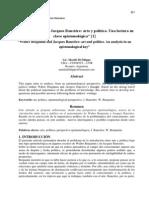 Walter Benjamin y Jacques Rancière- arte y política. Una lectura en clave epistemológica
