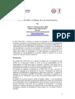 USO DE LA ISO 27001 Y EL MANEJO DE LA ACCIÓN CORRECTIVA
