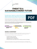 A Commitment to a Sustainable Energy Future