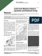Chromite Deposits From Western Sahara