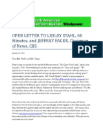 Open Letter to CBS Lesley Stahl
