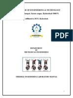 Thermal engineering Lab Manual