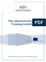 The Administrative Law Training Guidelines